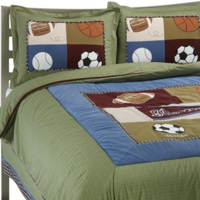CoCaLo Baby® Sports Fan Full Bed Skirt