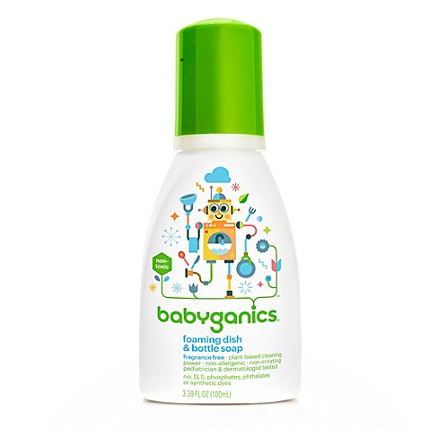 BabyGanics® Dish Dazzler™ 3.38-Ounce Foaming Dish and Bottle Soap