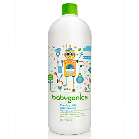 BabyGanics® Dish Dazzler™ 33.8-Ounce Foaming Dish and Bottle Soap Refill