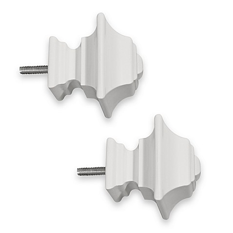 ReSolutions Satin Square Finials in White