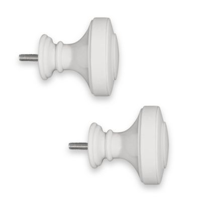ReSolutions Satin Knob Finials in White