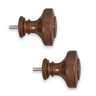 ReSolutions Knob Finials in Translucent Brown