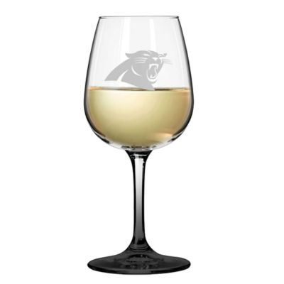 Satin Etched NFL Carolina Panthers Wine Glasses (Set of 2)
