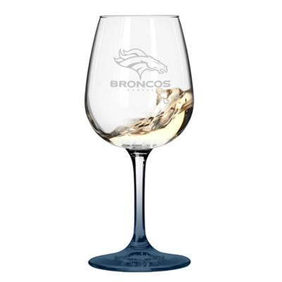 Satin Etched NFL Denver Broncos Wine Glasses (Set of 2)