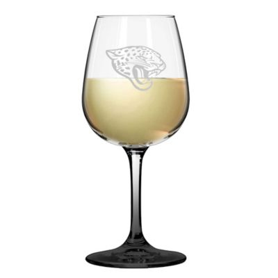 Satin Etched NFL Jacksonville Jaguars Wine Glasses (Set of 2)