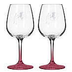 Satin Etched NFL Washington Redskins Wine Glasses (Set of 2)