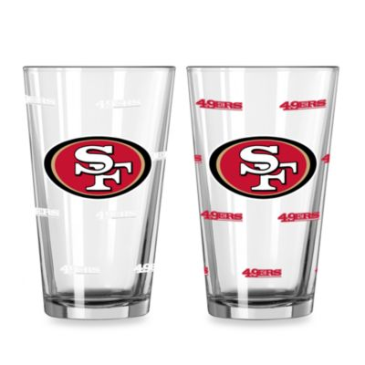 NFL San Francisco 49ers Color Changing Pint Glasses (Set of 2)