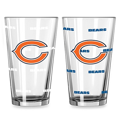 NFL Chicago Bears Color Changing Pint Glasses (Set of 2)