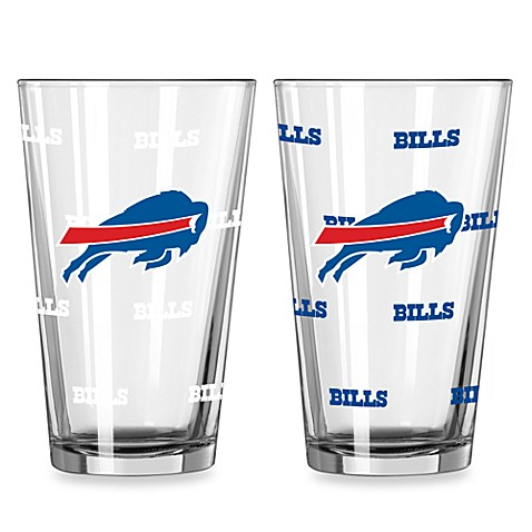 NFL Buffalo Bills Color Changing Pint Glasses (Set of 2)