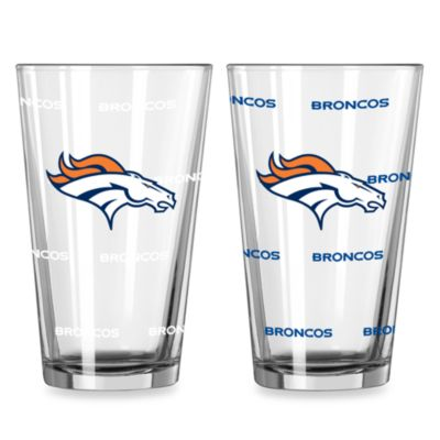 NFL Denver Broncos Color Changing Pint Glasses (Set of 2)