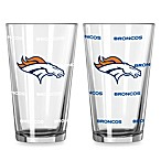Denver Broncos Color Changing Pint Glasses (Set of 2)
