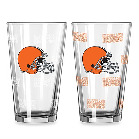 NFL Cleveland Browns Color Changing Pint Glasses (Set of 2)