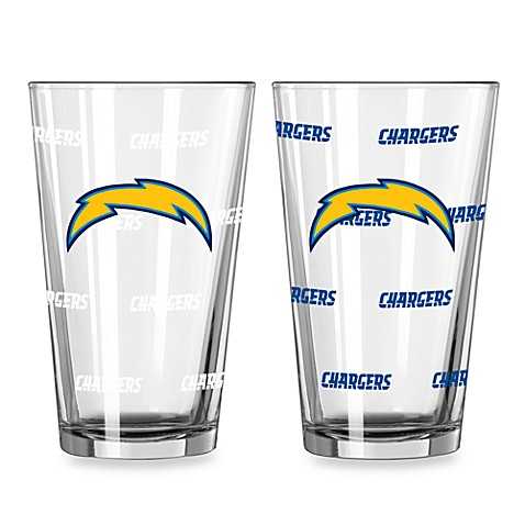 NFL San Diego Chargers Color Changing Pint Glasses (Set of 2)