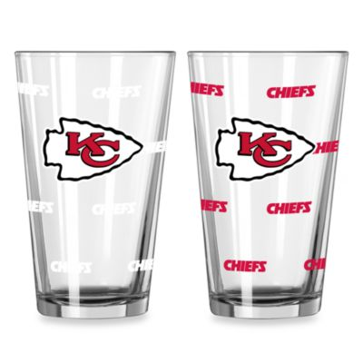 NFL Kansas City Chiefs Color Changing Pint Glasses (Set of 2)