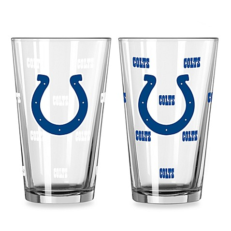 NFL Indianapolis Colts Color Changing Pint Glasses (Set of 2)