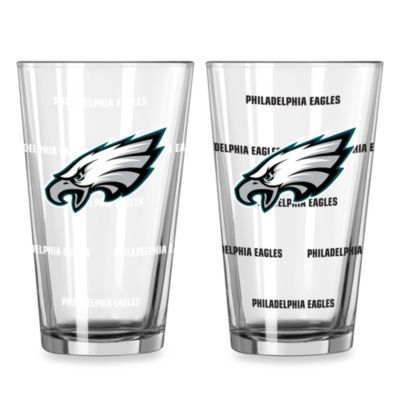 NFL Philadelphia Eagles Color Changing Pint Glasses (Set of 2)