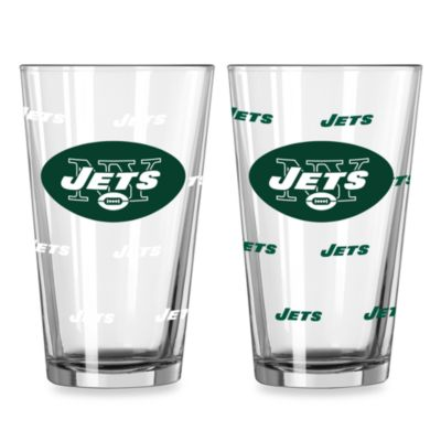 NFL New York Jets Color Changing Pint Glasses (Set of 2)