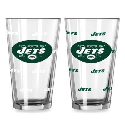 NFL New York Jets Color Changing Pint Glasses (Set of 2)