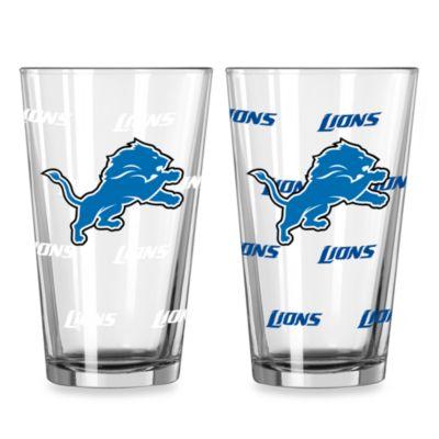 NFL Detroit Lions Color Changing Pint Glasses (Set of 2)