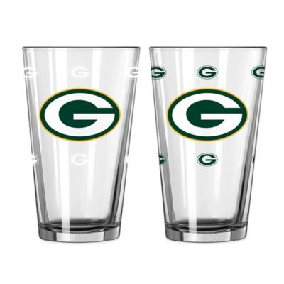 NFL Green Bay Packers Color Changing Pint Glasses (Set of 2)