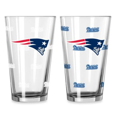 NFL New England Patriots Color Changing Pint Glasses (Set of 2)