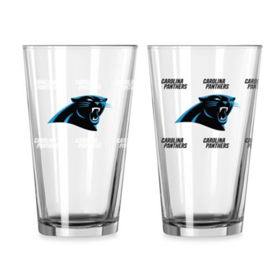 NFL Carolina Panthers Color Changing Pint Glasses (Set of 2)