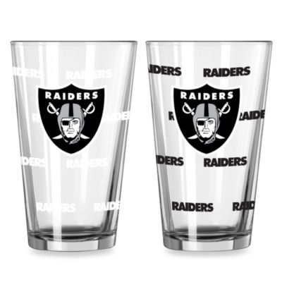 NFL Oakland Raiders Color Changing Pint Glasses (Set of 2)