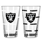 Oakland Raiders Color Changing Pint Glasses (Set of 2)
