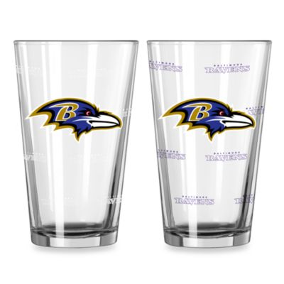 NFL Baltimore Ravens Color Changing Pint Glasses (Set of 2)