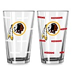 Washington Redskins Color Changing Pint Glasses (Set of 2)