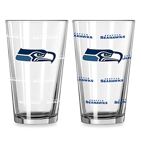 NFL Seattle Seahawks Color Changing Pint Glasses (Set of 2)