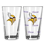 NFL Minnesota Vikings Color Changing Pint Glasses (Set of 2)