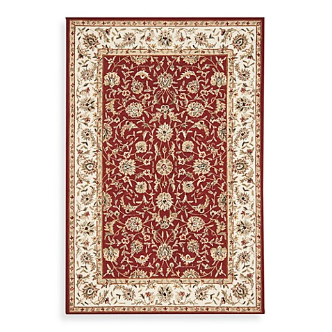 Safavieh Chelsea Collection Burgundy Wool 4' Round Rug
