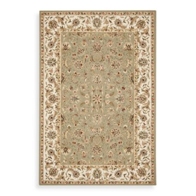 Safavieh Chelsea Collection Wool 1-Foot 8-Inch x 2-Foot 6-Inch Accent Rug in Ivory and Sage