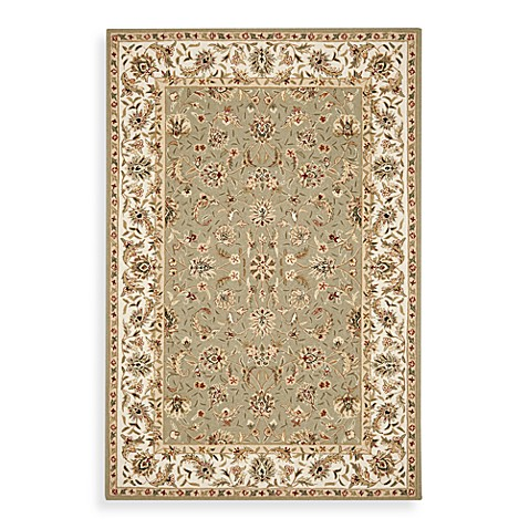 Safavieh Chelsea Collection Wool 2-Foot 6-Inch x 4-Foot Accent Rug in Ivory and Sage