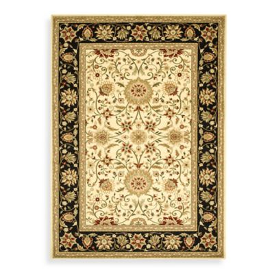 Safavieh Lyndhurst Traditional 2-Foot x 12-Foot Runner in Ivory and Black