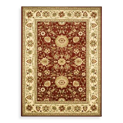 Safavieh Lyndhurst Collection 5-Foot 3-Inch x 7-Foot 6-Inch Rectangle Rug in Red and Ivory