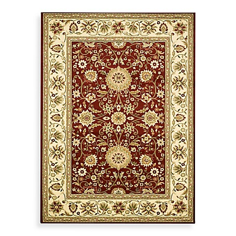 "Safavieh Lyndhurst Collection Red and Ivory 5' 3"" Round Rug"