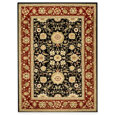 6 x 6 Safavieh Black Red Square Rug