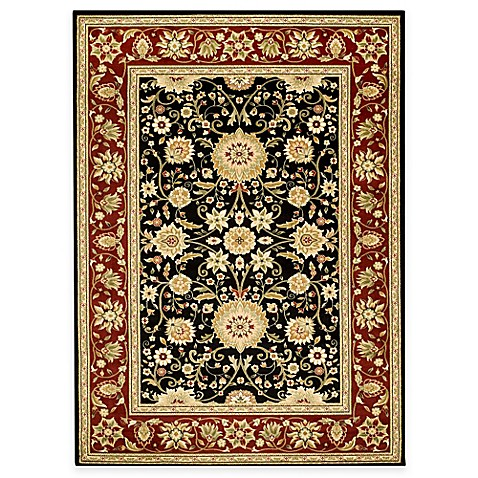 Safavieh Lyndhurst Collection 5-Foot 3-Inch Round Rug in Black and Red