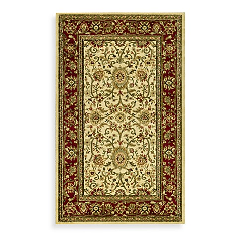 Safavieh Lyndhurst Collection Ivory and Red 8' Round Rug