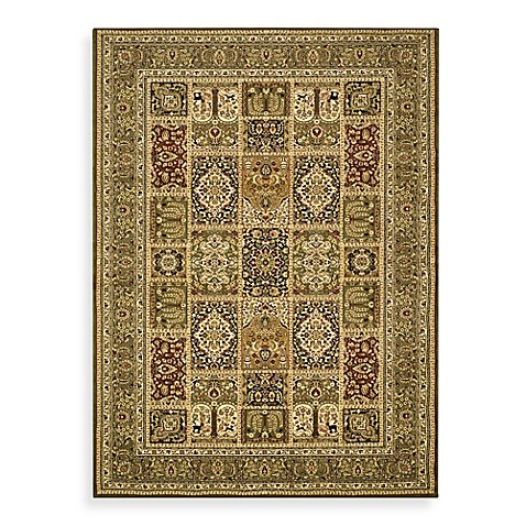 "Safavieh Lyndhurst Collection Green Patchwork 5' 3"" x 5' 3"" Round Rug"