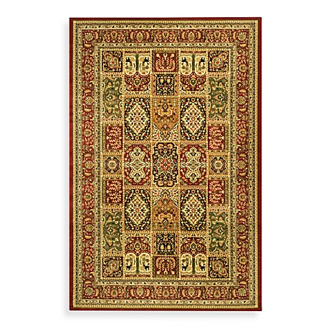 "afavieh Lyndhurst Collection Red Patchwork 5' 3"" Round Rug"