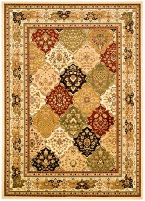 Safavieh Lyndhurst Diamond Patchwork 5-Foot 3-Inch x 7-Foot 6-Inch Rug in Ivory