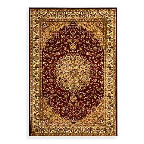 "Safavieh Lyndhurst Collection Red Medallion 5' 3"" Round Rug"