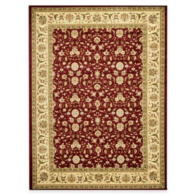 Safavieh Lyndhurst Red and Ivory Scrolling Pattern 9-Foot x 12-Foot Rug