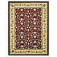 Safavieh Lyndhurst Red and Ivory Scrolling Pattern 5-Foot 3-Inch x 7-Foot 6-Inch Rectangle Rug