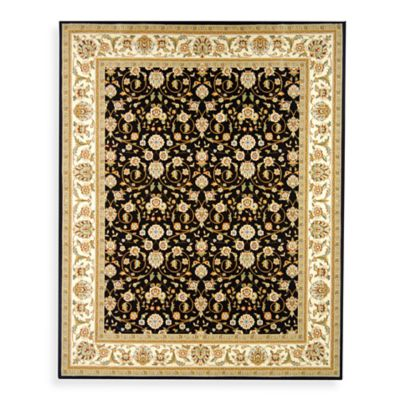 Safavieh Lyndhurst Black Scroll Pattern 8' Square Rug