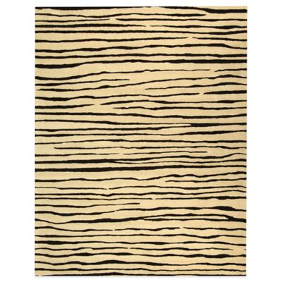 8 Black Rectangle Rug