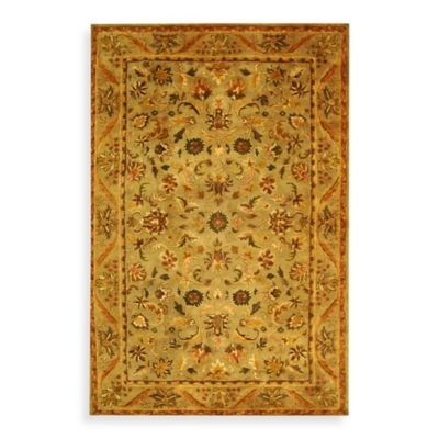 Safavieh Antiquities 2-Foot 3-Inch x 4-Foot Wool Accent Rug in Gold